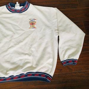 Vintage Disney Cruise Line Sweatshirt Ringer XL